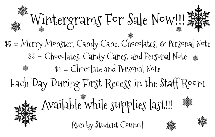 Wintergram flyer and cards 2019
